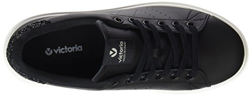 Unisex Victoria Adults' White Trainers Deportivo Piel Noir Black HW6qp1wW4