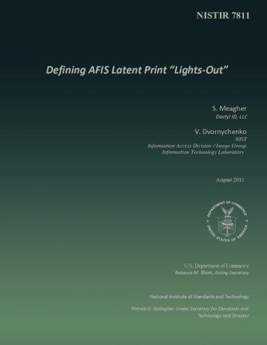Defining AFIS Latent Print
