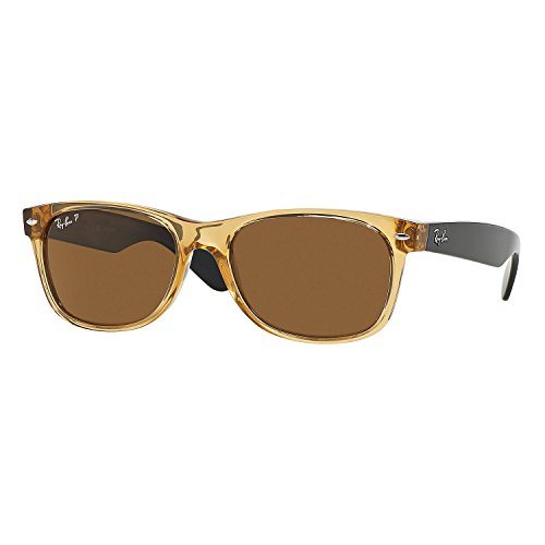 Ray-Ban RB 2132 945/57 55mm New Wayfarer Honey W/ Crystal Brown Polarized Lens ()