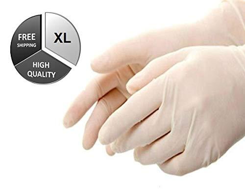 (24,000枚) XL ラテックス 粉末 使い捨て工業用手袋 厚さ4.0ミル  B07924KFHY