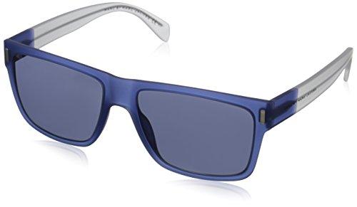 Marc by Marc Jacobs Women's MMJ468S Wayfarer Sunglasses, Blue Crystal & Gray, 57 - Wayfarer Marc Jacobs