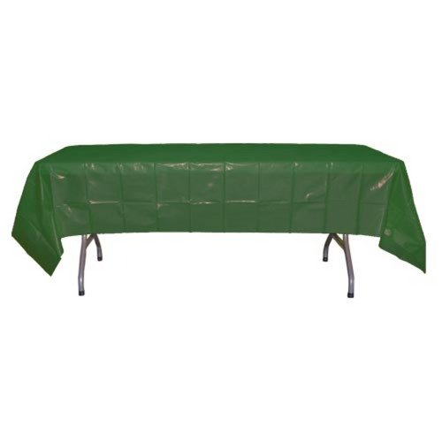 Dark Green Pool Tablecloth (Dark Green plastic table cover 54