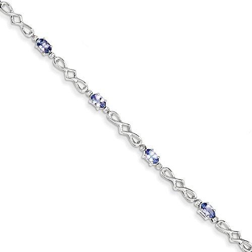 Argent Sterling avec tanzanites et diamants JewelryWeb Bracelet
