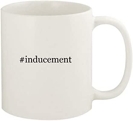 #inducement - 11oz Hashtag Ceramic White Coffee Mug Cup, White