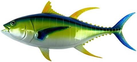 Treasure Gurus 28″ Yellowfin Tuna Saltwater Fish Wall Mount Trophy Taxidermy Hand Painted Hanging Plaque
