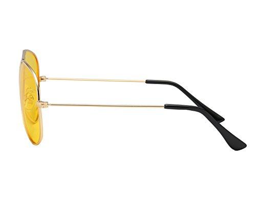 Amarillas 400 de Conducir aviador de Sol De Gafas sol Nocturnas Oro UV Protección polarizadas Gafas Peony A Red z7xIZZ