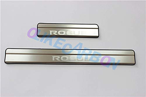 OLIKE for Nissan Rogue 2014 15 16 2017 2018 Stainless Steel Door Sill Scuff Plate Guard Sills Protector Trim