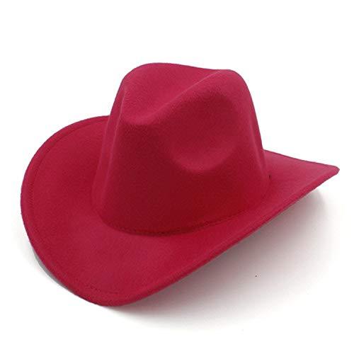 HEWPASKE Wool Winter Autumn Kids Child Felt Western Cowboy Hat for Girl Boy Cowgirl Cap Jazz hat Sombrero Cap