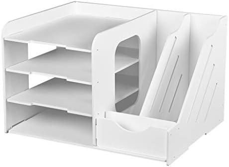 SNOWINSPRING DIY Dokumenten Ablage Desktop Multifunktions Aufbewahrung Box Stift Stift Aktenhalter Schreibtisch Veranstalter Schule Bedarf