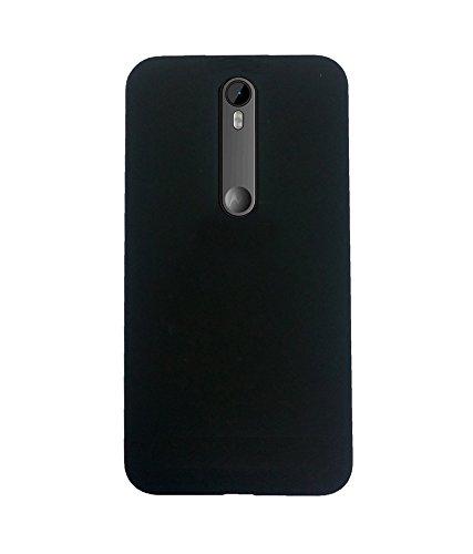 sale retailer 22d55 2ba71 Scudomax Rubberized Matte Back Case Cover for Motorola Moto G 3rd Gen (Moto  G3) / Moto G Turbo Edition - Black