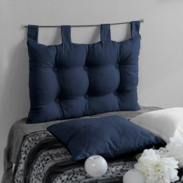 Eminza Enjoy Home, Testiera letto a cuscino, in cotone, 70 x 45 cm, Blu 2007BMTL070045