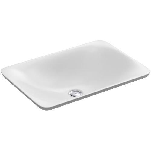 KOHLER K-7799-0 Carillon Wading Pool Rectangular Above-Counter Bathroom Sink, White