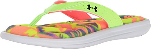 Under Armour Women's UA Marbella Floral V Thong Lime Light/Brilliance/White Athletic Shoe