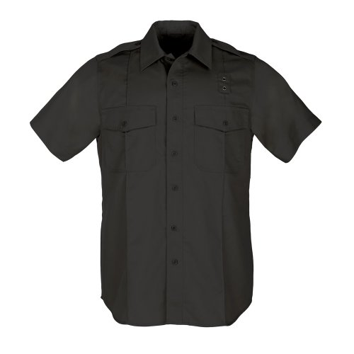 (5.11 Tactical Twill PDU Class A Short Sleeve Button Down Shirt, Teflon Coating, Style 71183)