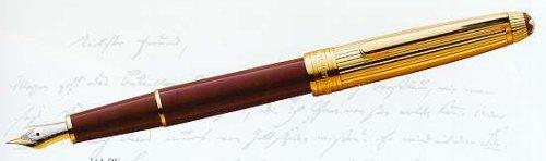 Mont Blanc Meisterstück Solitaire Doue Pen Burgundy / Gold-plated Classique Fountain Pen