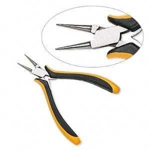 OHM short round-nose ergonomic pliers