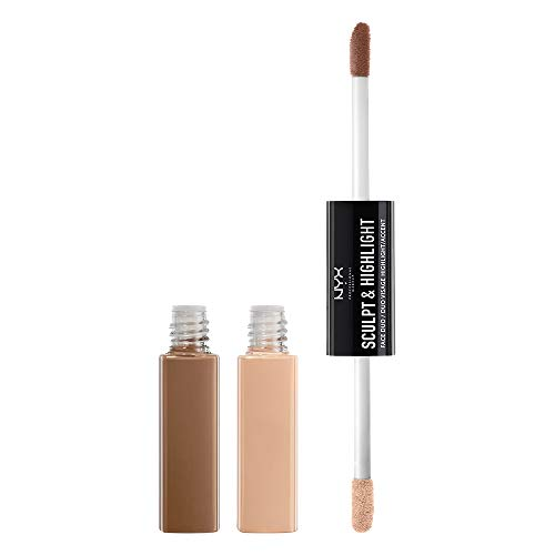 NYX PROFESSIONAL MAKEUP Sculpt & Highlight Face Duo, Taupe Ivory, 1.012 Ounce