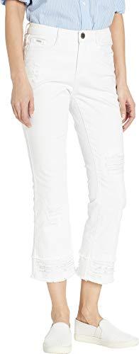 FDJ French Dressing Jeans Women's Statement White Denim Olivia Slight Flare Crop White 6 26