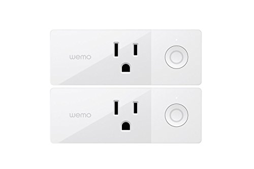 WeMo 4T-T3X2-Y1HT Plug in Light and appliances Control, 2 Pack, White ()