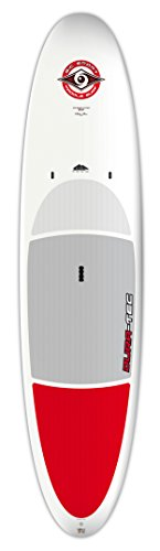 BIC Sport DURA-TEC Stand Up Paddle Board, White/Red