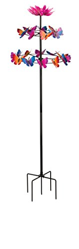 Regal Art & Gift 11509 Vertical Stake-Butterfly Dance Kinetic, Multi