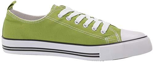 Low Top Cap Toe Women Sneakers Tennis Canvas Shoes Casual Shoes for Women Flats, Size 7 Light Green