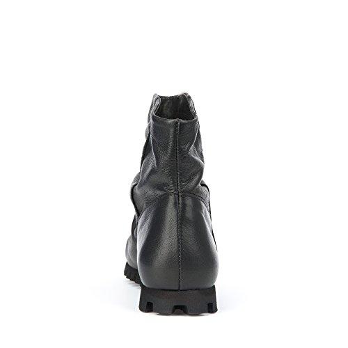 Felmini - Zapatos para Mujer - Enamorarse con Cain 9126 - Botines Cowboy & Biker - Genuine Cuero - Negro - 0 EU Size