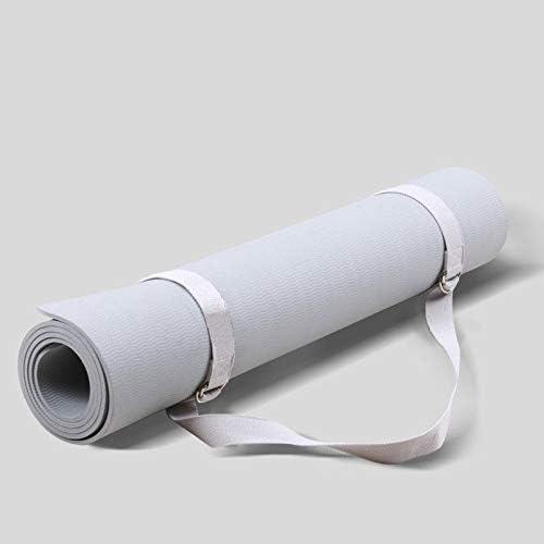 Eco friendly ノンスリッププロフェッショナルヨガマットヨガ、ピラティス、床運動のためにボディラインフィットネスマットで環境に配慮したTPE、80センチメートル拡幅 exercise (色 : Gray)
