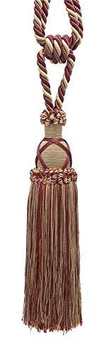 (Beautiful Taupe, Wine Curtain & Drapery Tassel Tieback / 10