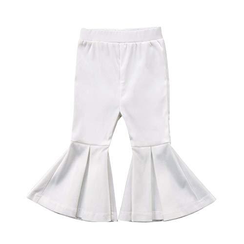 Newborn Baby Girls Kids Boho Floral Bell Bottom Flare Leggings Trousers Pants (White, 2-3 ()