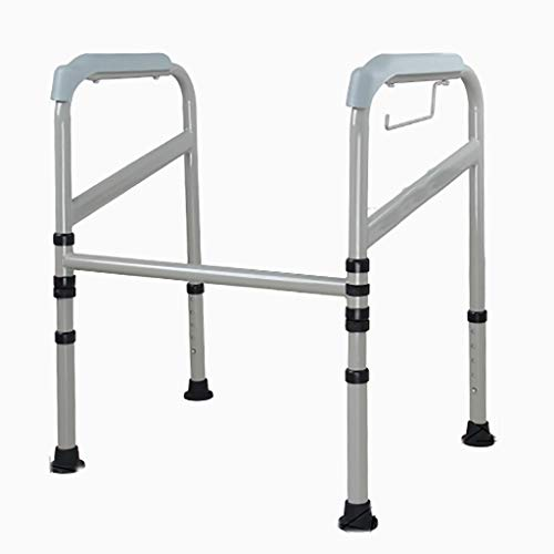Toilet Surround Frame, Foldable Adjustable Height Grab Bar, Toilet Safety Frame, Ideal for Elderly & Disabled