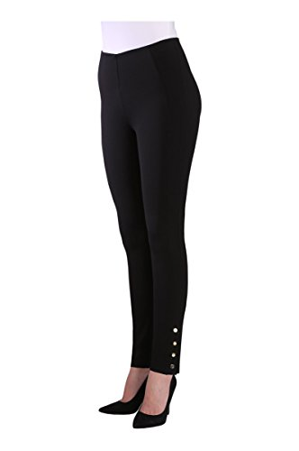 Nygard Women's Regular Slims Luxe Ankle Pant with Snap Black