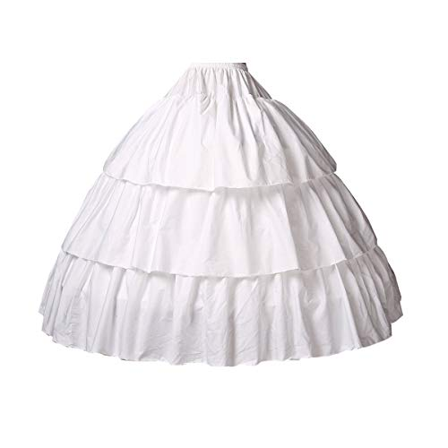 BEAUTELICATE Girls Petticoat 100% Cotton Crinoline Underskirt for Kids Flower Dress Slips Style2 22