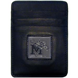 Siskiyou NCAA Memphis Tigers Leather Leather Money Clip/Cardholder Packaged in Gift Box ()