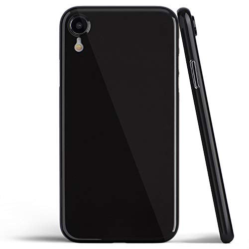 Thin iPhone XR Case, Thinnest Cover Ultra Slim Minimal - for Apple iPhone XR (2018) - totallee (Jet Black)