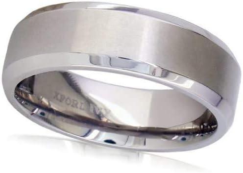 Security Jewelers Titanium 7mm Beveled Edge Band Size 11.5 Ring Size 11.5