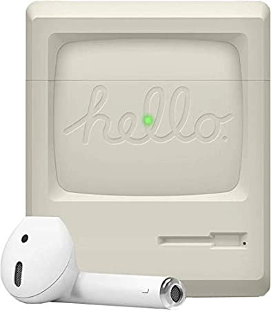 【elago】 AirPods ケース シリコン 製 カバー ノスタルジック レトロ デザイン 耐衝撃 傷防止 保護 アクセサリー [ Apple AirPods1 / AirPods2 Wireless Charging Case エアーポッズ 対応 ] AW3 CASE クラシックホワイト