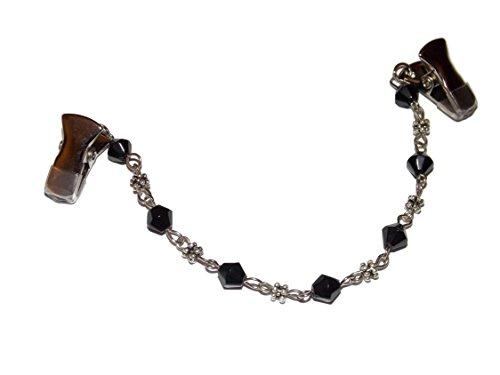 Black Chain Brooch - 9