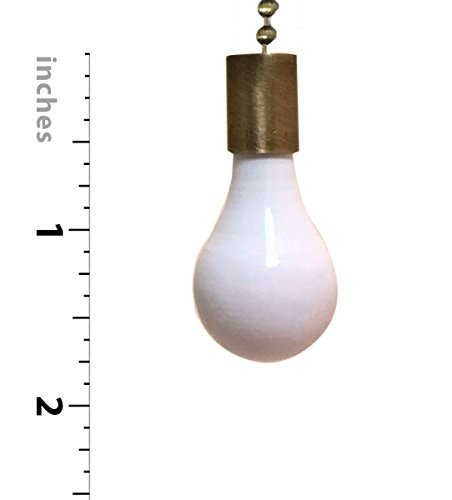 Royal Designs FP-1001-2-A-B Metal Fan and Light Bulb Pull Chain, Antique Brass and White by Royal Designs, Inc (Image #2)