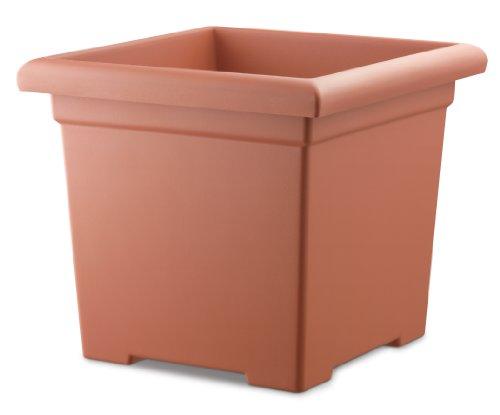 Akro Mils ROS12500E35 Accent Square Planter, Clay Color, 12-1/2-Inch
