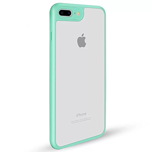Hayder iPhone 7 Plus Case 2 in 1, TPU+PU Ultrathin Shockproof Clear Cover for iPhone 7 plus (Tiffany - Under Tiffany 150