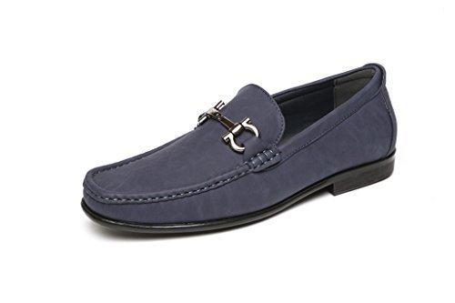Hombre Sin Cierres Moda Estilo Informal Mocasines Zapatos De Conducción con Tacón Diseñador Mocasin Estilo Nuevo Tallas GB Azul