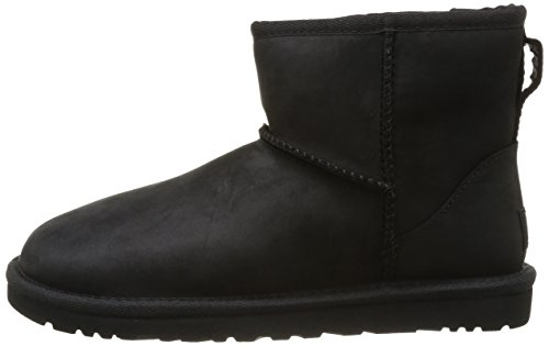 Black Mini Femme Leather Classic Ugg Hautes Noir Sneakers Australia vxO6Sn8