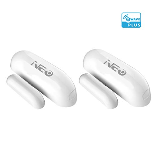 NEO Z-Wave Plus Door/Window Sensor Mini Sized Home Automation Security, Magnetic, Work with Wink, SmartThings and Vera 2PK