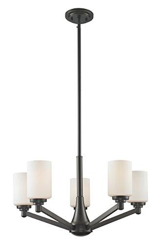 Z-Lite 411-5 5-Light Chandelier, Matte Opal (Light Matte Five Chandelier)