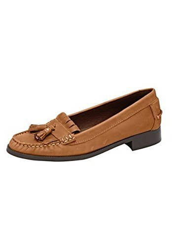 Leather Ladies Slipper Orange Moccasin Connections from Nappa Best FzFtx6n