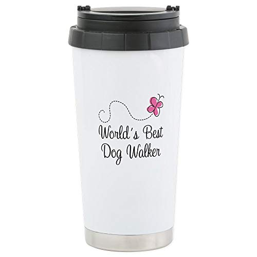 CafePress Dog Walker (World's Best) Stainless Steel Travel M Stainless Steel Travel Mug, Insulated 16 oz. Coffee ()