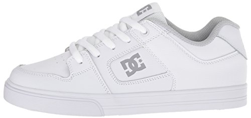 Pictures of DC Pure Elastic Skate Shoe White 5 M US Big Kid ADBS300385 5