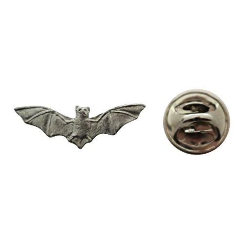 Sarah's Treats & Treasures Bat Mini Pin ~ Antiqued Pewter ~ Miniature Lapel Pin