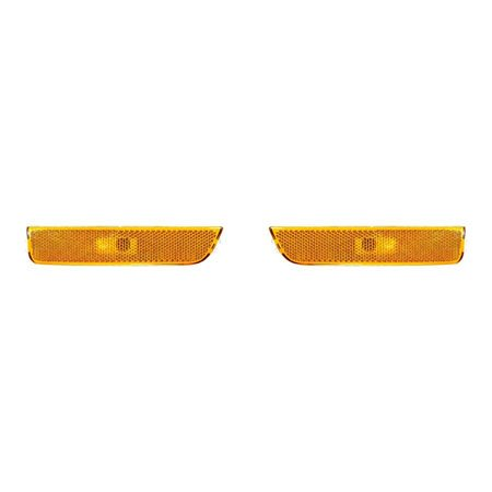 Fits Volkswagen Passat 2001-2005 Front Side Marker Light Assembly Pair Driver and Passenger Side Amber VW2550106, VW2551106 - Volkswagen Side Marker Assembly